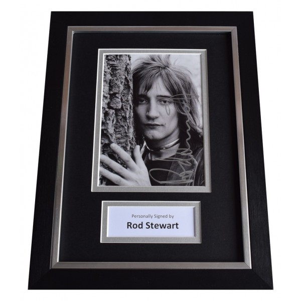 Rod Stewart Signed A4 FRAMED Autograph Photo Display Music    AFTAL  COA Memorabilia PERFECT GIFT