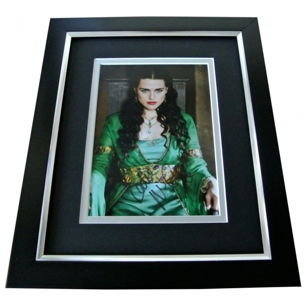 Katie McGrath Signed 10x8 FRAMED Photo Mount Autograph Display Merlin & COA    CLEARANCE
