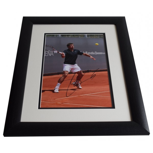 Stanislas Wawrinka SIGNED FRAMED Photo Autograph 16x12 LARGE Tennis display  AFTAL & COA Memorabilia PERFECT GIFT