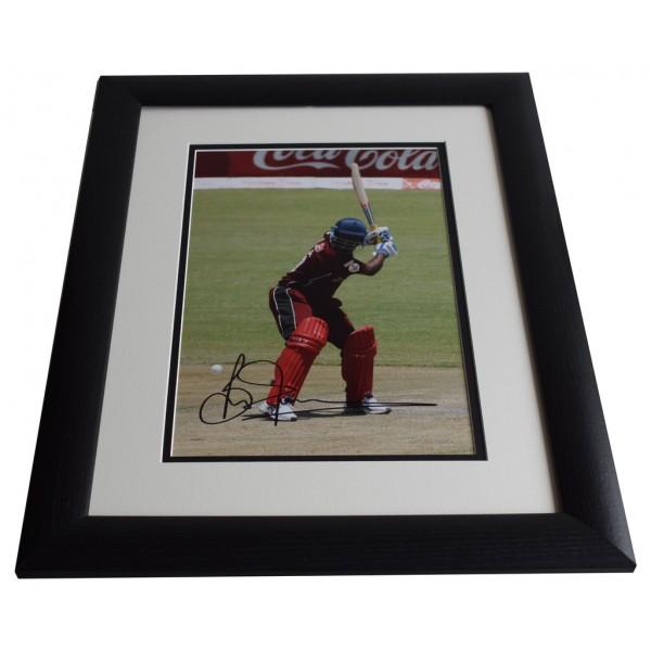 Brian Lara SIGNED FRAMED Photo Autograph 16x12 LARGE Cricket display AFTAL & COA Memorabilia PERFECT GIFT