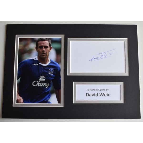 David Weir Signed Autograph A4 photo display Everton Football  AFTAL  COA Memorabilia PERFECT GIFT