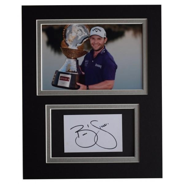 Branden Grace Signed Autograph 10x8 photo display Golf Sport AFTAL  COA Memorabilia PERFECT GIFT