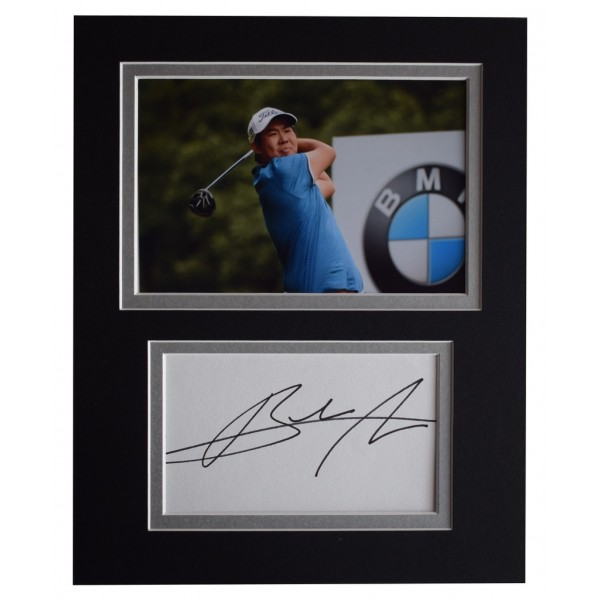 An Byeong-hun Signed Autograph 10x8 photo display Golf Sport  AFTAL  COA Memorabilia PERFECT GIFT