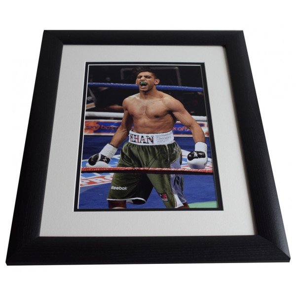 Amir Khan SIGNED FRAMED Photo Autograph 16x12 LARGE Boxing display AFTAL & COA Memorabilia PERFECT GIFT