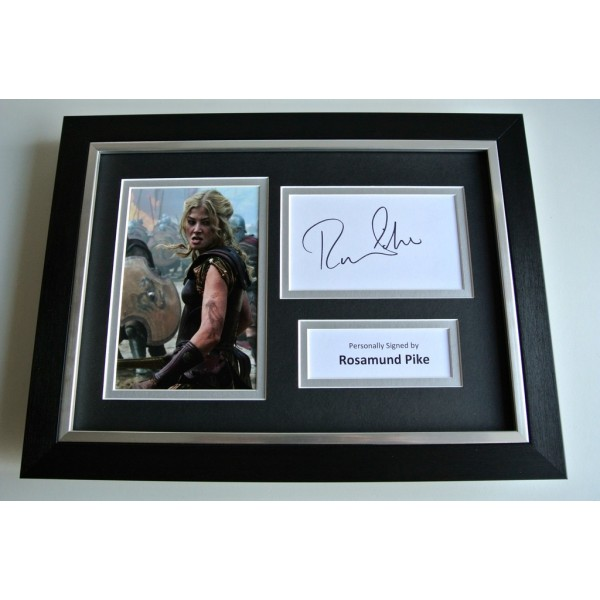 Rosamund Pike SIGNED A4 FRAMED Photo Autograph Display TV Film Actress & COA        PERFECT GIFT