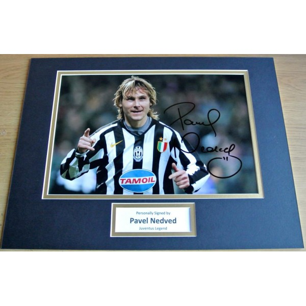 Pavel Nedved SIGNED autograph 16x12 photo mount display Juventus Football   AFTAL & COA Memorabilia PERFECT GIFT