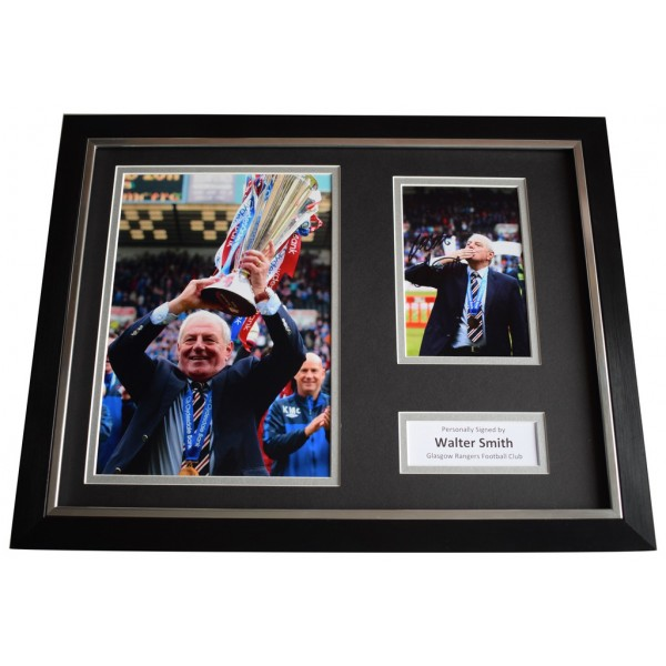 Walter Smith SIGNED FRAMED Photo Autograph 16x12 display Glasgow Rangers   AFTAL  COA Memorabilia PERFECT GIFT
