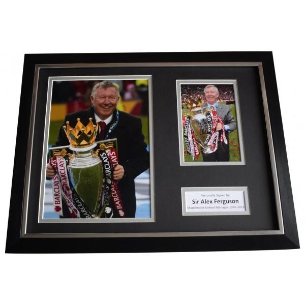 Alex Ferguson SIGNED FRAMED Photo Autograph 16x12 display Manchester United    AFTAL  COA Memorabilia PERFECT GIFT