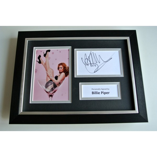 Billie Piper SIGNED A4 FRAMED Photo Autograph Display TV Doctor Who & COA  PERFECT GIFT