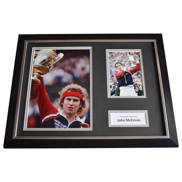 John McEnroe SIGNED FRAMED Photo Autograph 16x12 display Tennis Sport    AFTAL  COA Memorabilia PERFECT GIFT