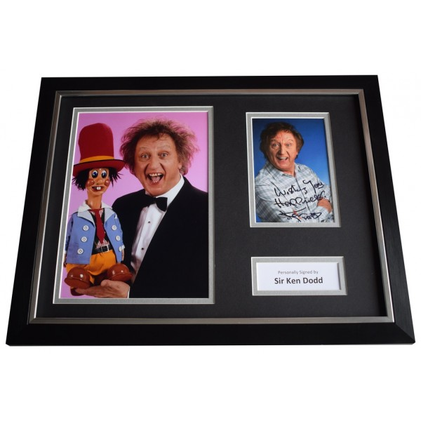 Ken Dodd SIGNED FRAMED Photo Autograph 16x12 display Liverpool Comedian   AFTAL  COA Memorabilia PERFECT GIFT