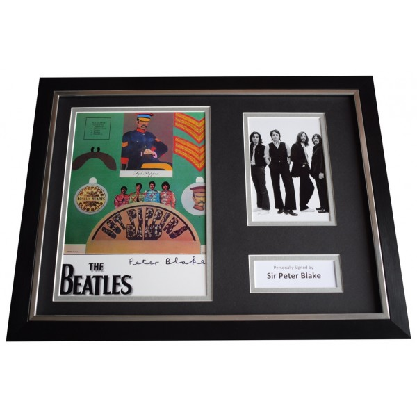Peter Blake SIGNED FRAMED Photo Autograph 16x12 display Beatles Music Art   AFTAL  COA Memorabilia PERFECT GIFT