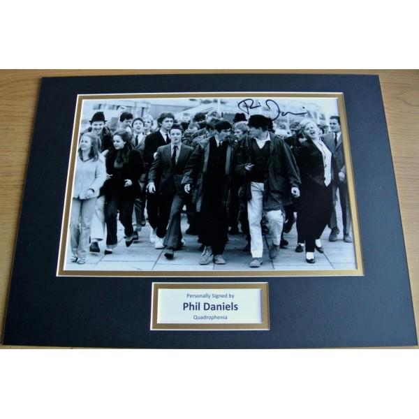 Phil Daniels SIGNED autograph 16x12 photo mount display Quadrophenia Film & COA AFTAL MEMORABILIA