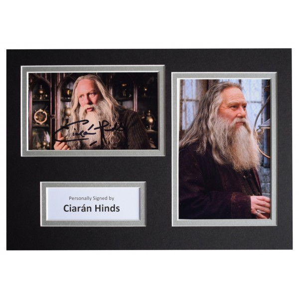 Ciaran Hinds Signed Autograph A4 photo display Harry Potter Film AFTAL  COA Memorabilia PERFECT GIFT