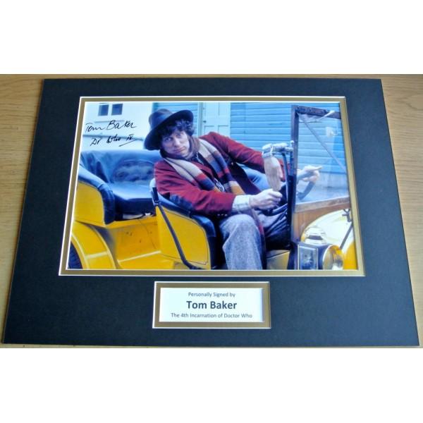 Tom Baker SIGNED autograph 16x12 photo mount display Doctor Who Memorabilia COA AFTAL MEMORABILIA