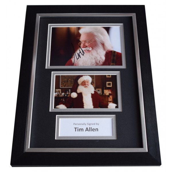 Tim Allen Signed A4 FRAMED photo Autograph display Santa Clause Film Movie    AFTAL  COA Memorabilia PERFECT GIFT