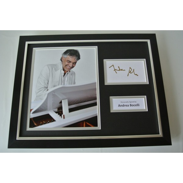 Andrea Bocelli SIGNED FRAMED Photo Autograph 16x12 display Opera Music & COA       PERFECT GIFT