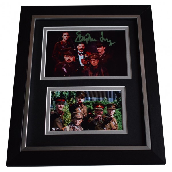 Stephen Fry SIGNED 10x8 FRAMED Photo Autograph Display Blackadder TV     AFTAL  COA Memorabilia PERFECT GIFT