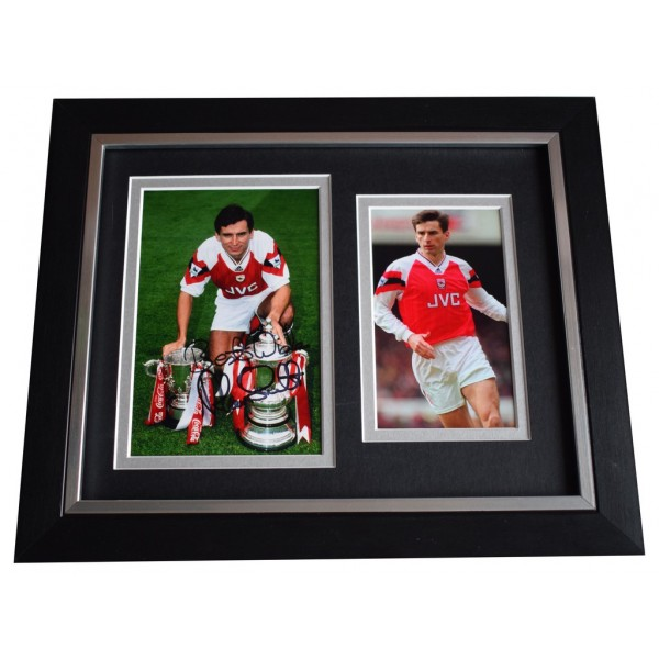 Alan Smith SIGNED 10x8 FRAMED Photo Autograph Display Arsenal Football AFTAL  COA Memorabilia PERFECT GIFT