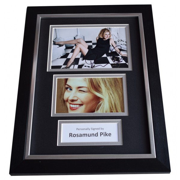 Rosamund Pike Signed A4 FRAMED photo Autograph display Gone Girl Film   AFTAL  COA Memorabilia PERFECT GIFT