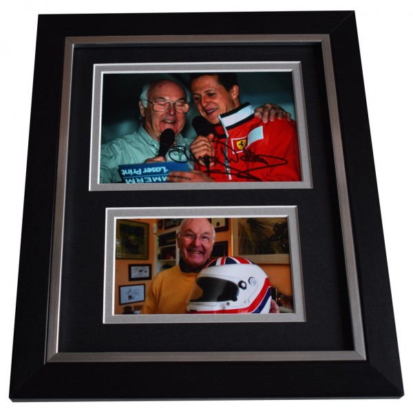 Murray Walker SIGNED 10x8 FRAMED Photo Autograph Display Formula 1 Racing    AFTAL  COA Memorabilia PERFECT GIFT
