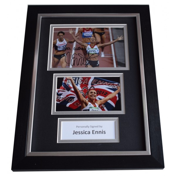 Jessica Ennis Signed A4 FRAMED photo Autograph display Olympic Heptathlon AFTAL  COA Memorabilia PERFECT GIFT