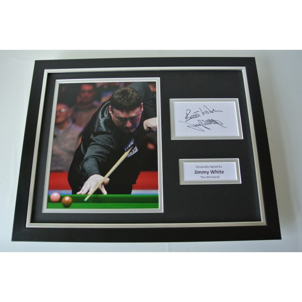 Jimmy White SIGNED FRAMED Photo Autograph 16x12 display Snooker PROOF & COA     PERFECT GIFT