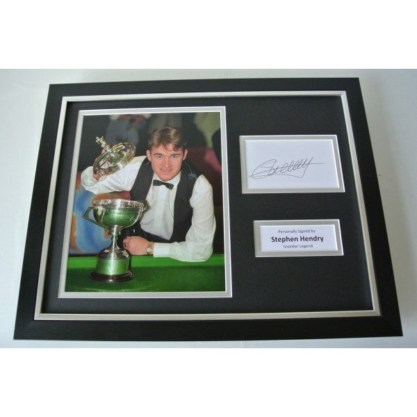 Stephen Hendry SIGNED FRAMED Photo Autograph 16x12 display Snooker & COA     PERFECT GIFT
