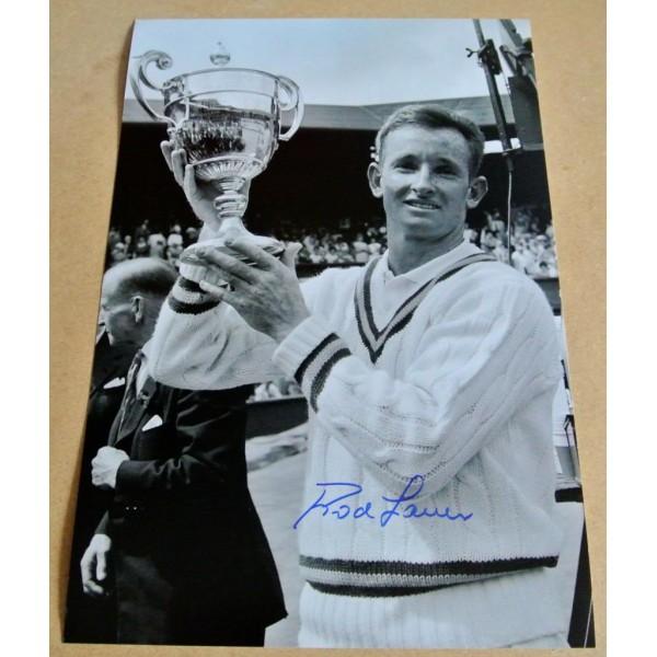 ROD LAVER GENUINE HAND SIGNED AUTOGRAPH 12X8 PHOTO TENNIS CHAMPION & COA AFTAL Sport Memorabilia PERFECT GIFT
