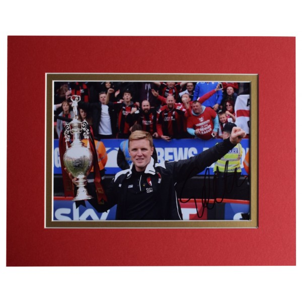 Eddie Howe Signed Autograph 10x8 photo display Bournemouth Football    AFTAL  COA Memorabilia PERFECT GIFT