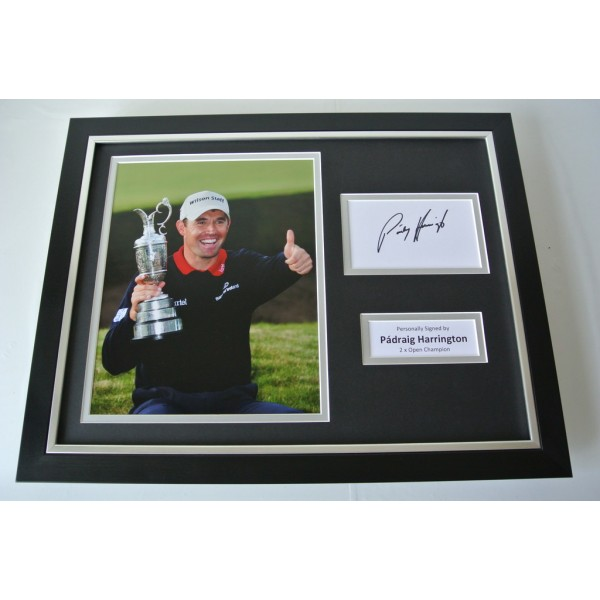 Padraig Harrington SIGNED FRAMED Photo Autograph 16x12 display Golf & COA     PERFECT GIFT