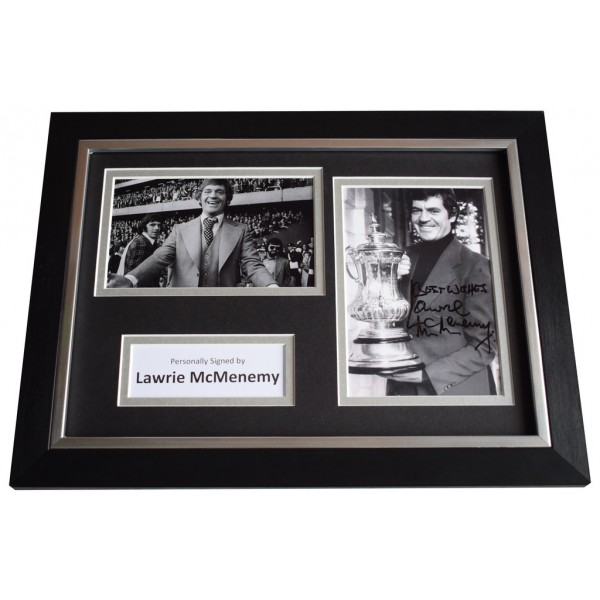 Lawrie McMenemy Signed A4 FRAMED Autograph Photo Display Southampton  AFTAL  COA Memorabilia PERFECT GIFT
