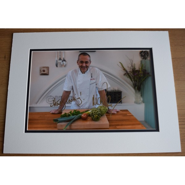 Michel Roux Jr SIGNED autograph 16x12 LARGE photo display TV Chef  AFTAL  COA Memorabilia PERFECT GIFT