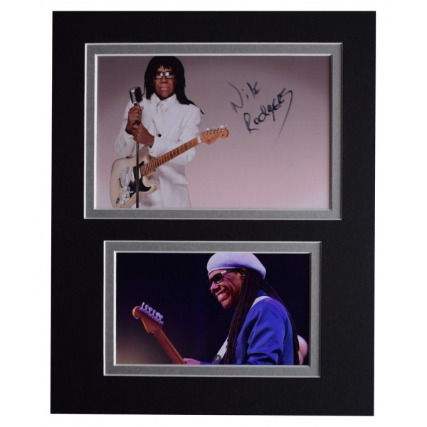 Nile Rodgers Signed Autograph 10x8 photo display Chic le Freak Music  AFTAL  COA Memorabilia PERFECT GIFT