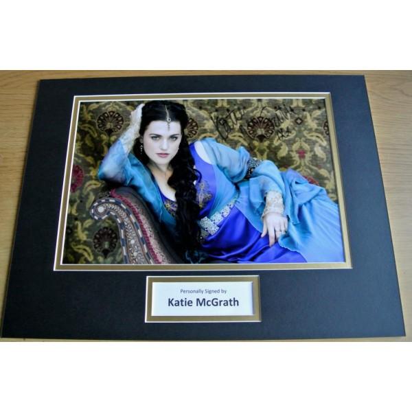 Katie McGrath SIGNED autograph 16x12 photo mount display Merlin TV Actress  AFTAL & COA Memorabilia PERFECT GIFT
