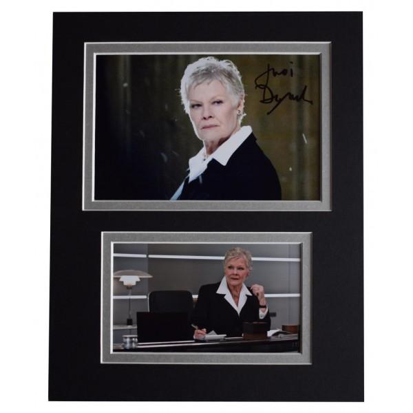 Judi Dench Signed Autograph 10x8 photo display James Bond Film  AFTAL  COA Memorabilia PERFECT GIFT