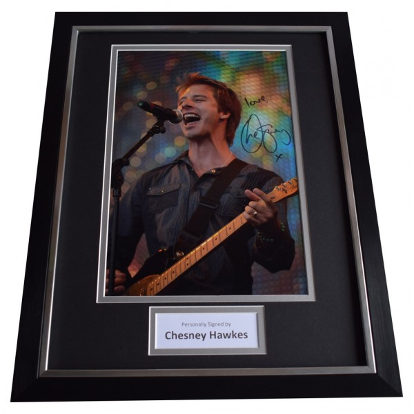 Chesney Hawkes SIGNED FRAMED Photo Autograph 16x12 display Music  AFTAL  COA Memorabilia PERFECT GIFT
