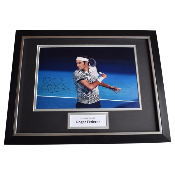 Roger Federer SIGNED FRAMED Photo Autograph 16x12 display Tennis AFTAL  COA Memorabilia PERFECT GIFT