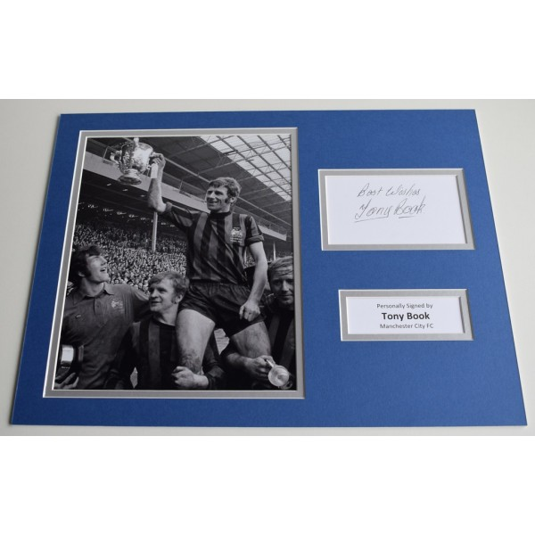 Tony Book SIGNED autograph 16x12 photo display Manchester City Football    AFTAL & COA Memorabilia PERFECT GIFT