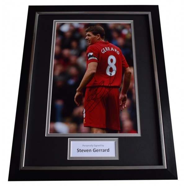 Steven Gerrard SIGNED FRAMED Photo Autograph 16x12 display Liverpool  AFTAL  COA Memorabilia PERFECT GIFT