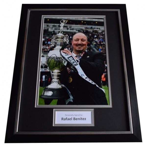 Rafa Benitez SIGNED FRAMED Photo Autograph 16x12 display Newcastle   AFTAL  COA Memorabilia PERFECT GIFT