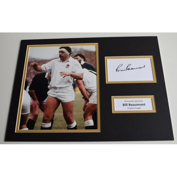 Bill Beaumont Signed 16x12 Photo Autograph Display Lions Rugby Memorabilia COA
