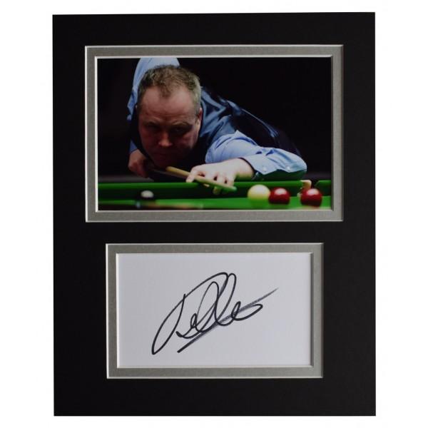 John Higgins Signed Autograph 10x8 photo display Snooker Sport  AFTAL  COA Memorabilia PERFECT GIFT