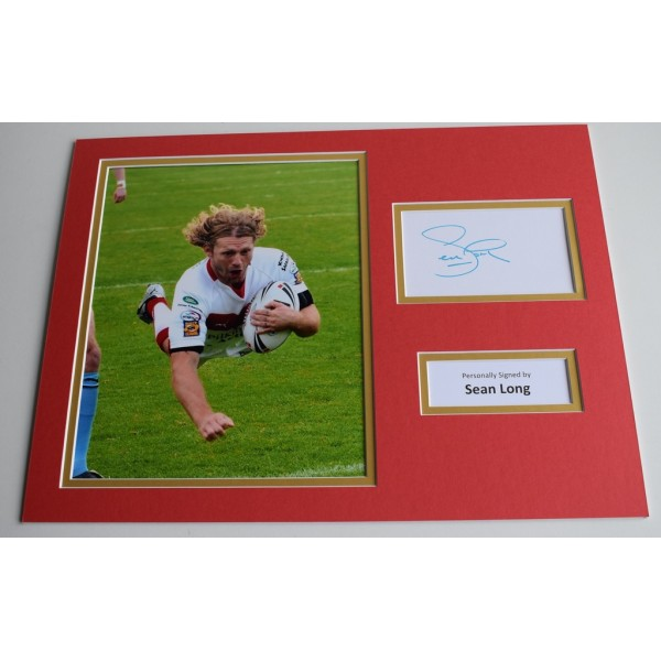 Sean Long SIGNED autograph 16x12 photo display St Helens Rugby  AFTAL & COA Memorabilia PERFECT GIFT