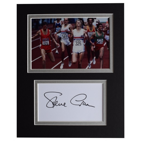 Steve Cram Signed Autograph 10x8 photo display Olympic 1500 metres    AFTAL  COA Memorabilia PERFECT GIFT