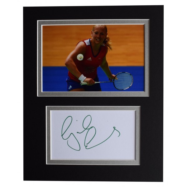 Gail Emms Signed Autograph 10x8 photo display Olympic Badminton  AFTAL  COA Memorabilia PERFECT GIFT