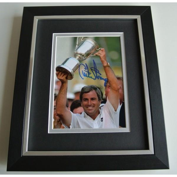 Curtis Strange SIGNED 10x8 FRAMED Photo Autograph Display Golf Memorabilia COA      CLEARANCE