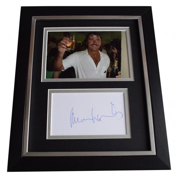 Allan Lamb SIGNED 10x8 FRAMED Photo Autograph Display Cricket   AFTAL  COA Memorabilia PERFECT GIFT