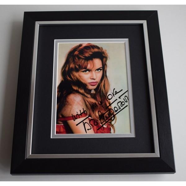 Brigitte Bardot SIGNED 10X8 FRAMED Photo Autograph Hollywood Film   AFTAL & COA Memorabilia PERFECT GIFT