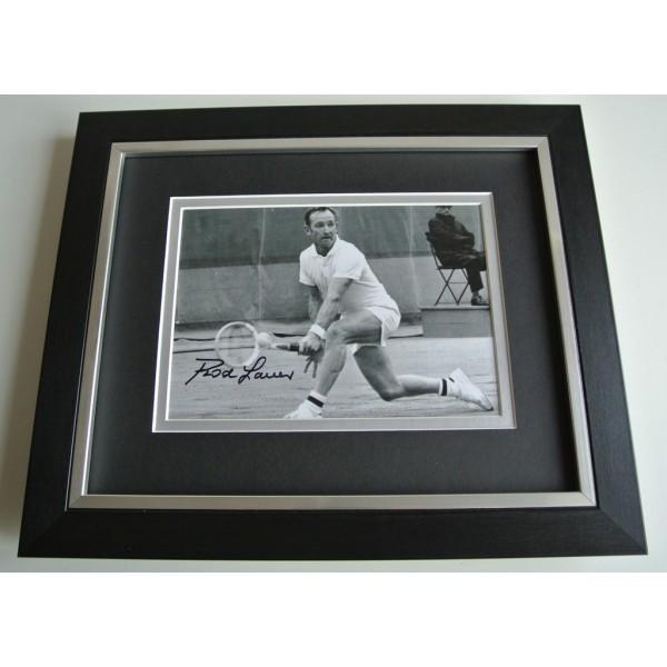 Rod Laver SIGNED 10x8 FRAMED Photo Autograph Display Tennis Memorabilia & COA      PERFECT GIFT